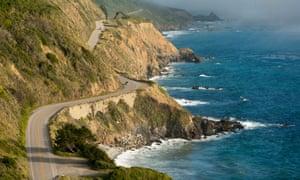 Highway One winds along the Big Sur coastline