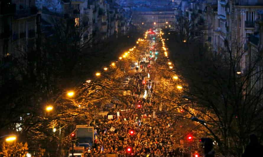 Another view of the solidarity march on 11 January.