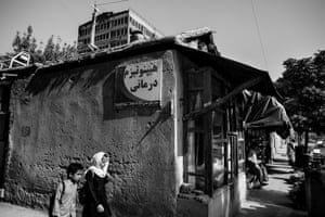 The exterior of Arab Shah's office in Kabul
