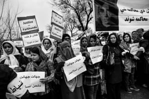 A protest in Kabul, following the murder of Farkhunda Malikzada, a case that has been at the centre of the backlash against mystics