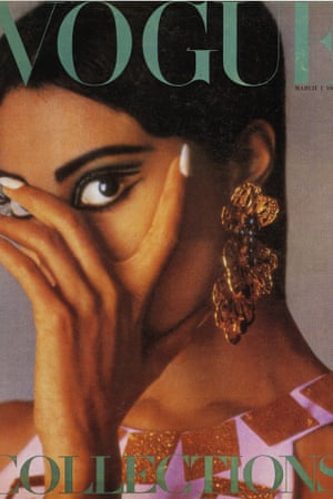 Donyale Luna on the cover of Vogue in 1966.