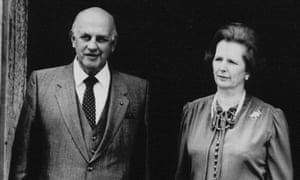South Africa's PW Botha (left) with British prime minister Margaret Thatcher in 1984.