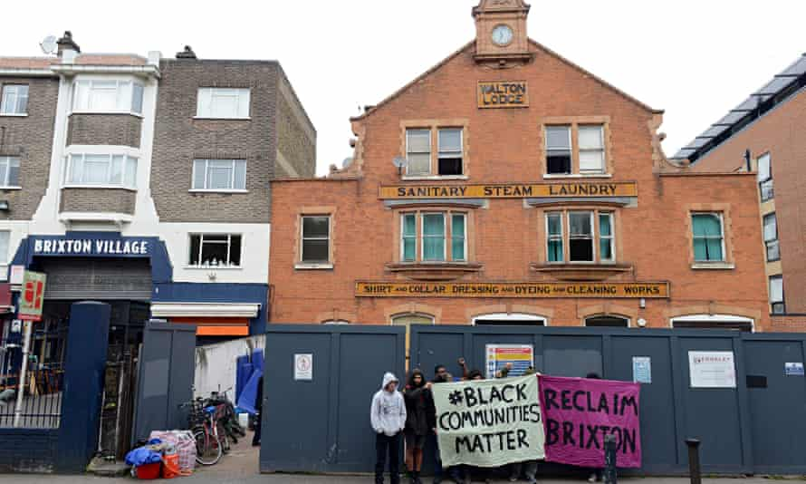 An anti-gentrification protest in Brixton, south London