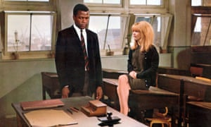 Sidney Poitier and Judy Geeson in To Sir, With Love.