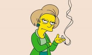Edna Krabappel from the Simpsons