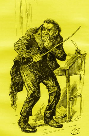 The Harry Furniss illustration of Mr Squeers for Charles Dickens's novel.