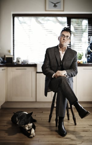 Richard Hawley with his border collie, Fred.