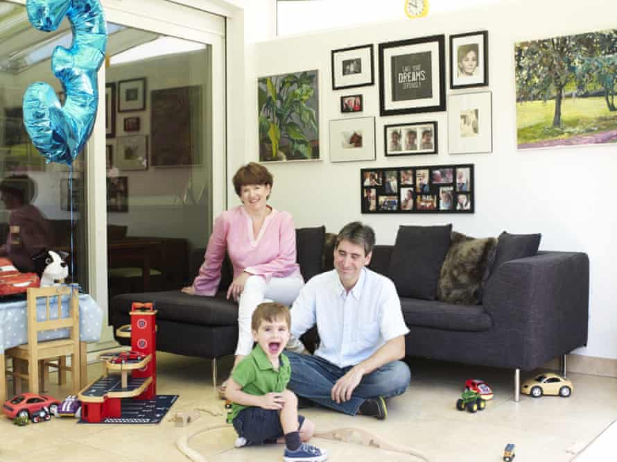 Sarah Crowley, with her husband Esteban and their son Andres