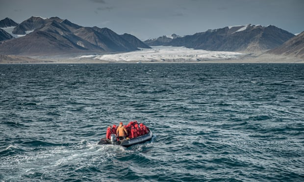 A boat trip in the Northwest Passage shows evidence of shrinking ice and glaciers. Photograph: Jeff Topham/One Ocean Expeditions