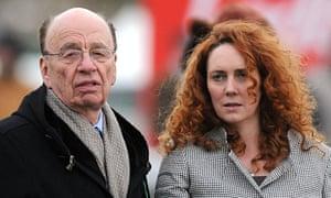 Rupert Murdoch with Rebekah Brooks