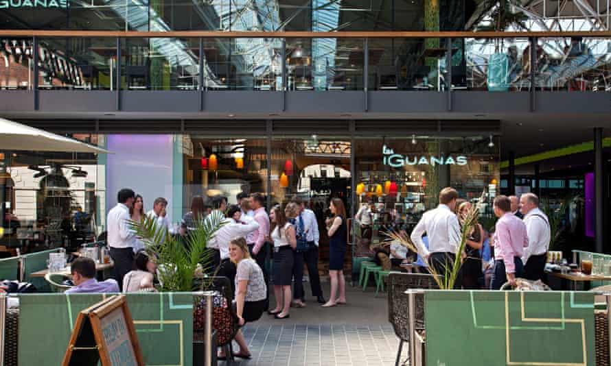 Las Iguanas Cafe/Restaurant, Spitalfields Market, Tower Hamlets, London, England