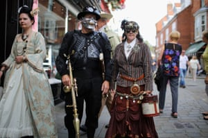 Steampunk enthusiasts attend the Asylum Steampunk festival in Lincoln,