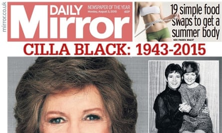 Daily Mirror: profits fell at publisher Trinity Mirror in the first half of the year