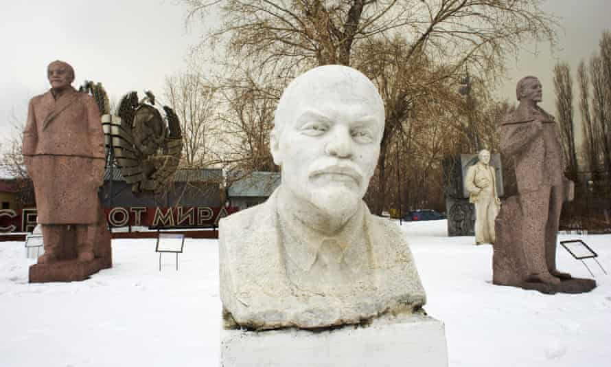Statues of Lenin in Moscow.