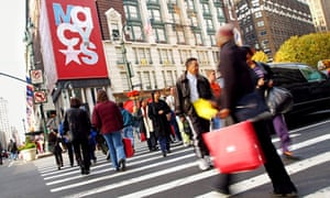 People shopping in New York