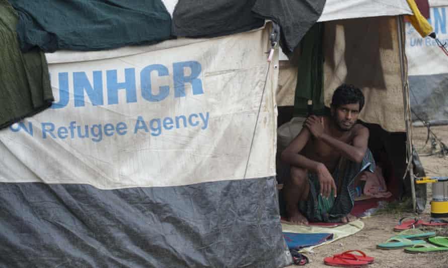Migrants on the Burma/Bangladesh border