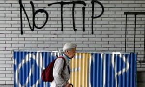 Anti-TTIP graffiti in Brussels, Belgium