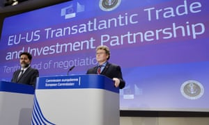 Ignacio Garcia Bercero (left), the EU chief negotiator for TTIP, and his US counterpart Dan Mullaney