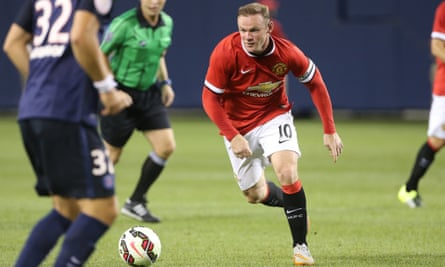 Wayne Rooney is expected to be deployed as a centre-forward by Manchester United's manager, Louis van Gaal.