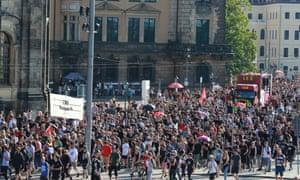 Saturday's march through Dresden.