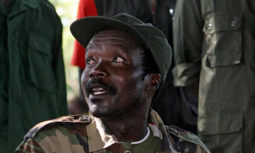 Joseph Kony, leader of the Lord's Resistance Army and mastermind behind the militarised slaughter of elephants in central Africa.