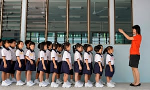 A class at a primary school in Singapore