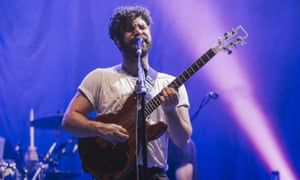 Yannis Philippakis of Foals performs on the NME Radio 1 stage