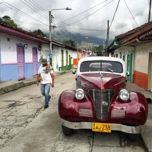 The streets of Salento, the colourful commercial epicentre of Colombian coffee country