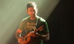Sufjan Stevens performs at the Playhouse for the Edinburgh international festival.