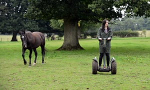 Rebecca Nicholson is doing a segway course