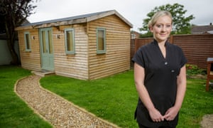 Laura Worgan, who runs a beauty salon from a shed in her back garden in Glastonbury.