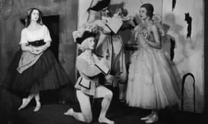 1924:  The Ballets Russes in Pulcinella. Music by Igor Stravinsky, choreography by Leonid Massine and designs by Pablo Picasso, based on Commedia della Arte characters.