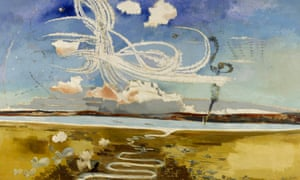 Section of Paul Nash's oil painting Battle of Britain (1941).