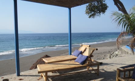 Beachside bar at Maubara, Timor Leste.