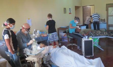 The mobile dental clinic in Bobonaro.