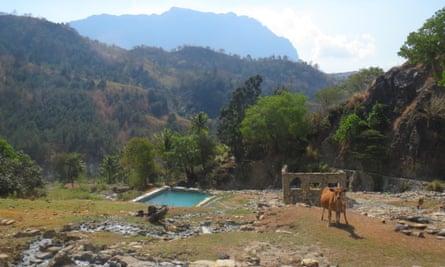 Morobo Hot Springs amid the ruins.