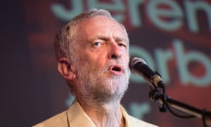 Jeremy Corbyn at a Labour leadership rally at Camden Town Hall, London.