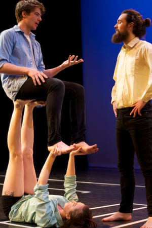 Kate Goodfellow pictured as a stool in Tumbling After.