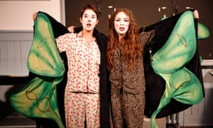 Louise Mothersole and Rebecca Biscuit in Guinea Pigs on Trial by Sh!t Theatre.