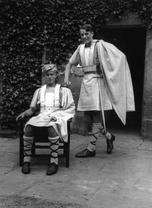 Philip in costume for his school Gordonstoun's production of Macbeth in 1935