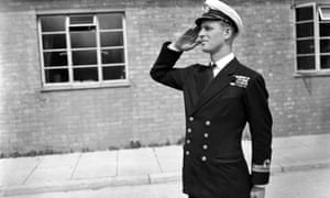 Lt Philip Mountbatten at the Royal Naval Officers' school at Kingsmoor in Hawthorn, Wiltshire.