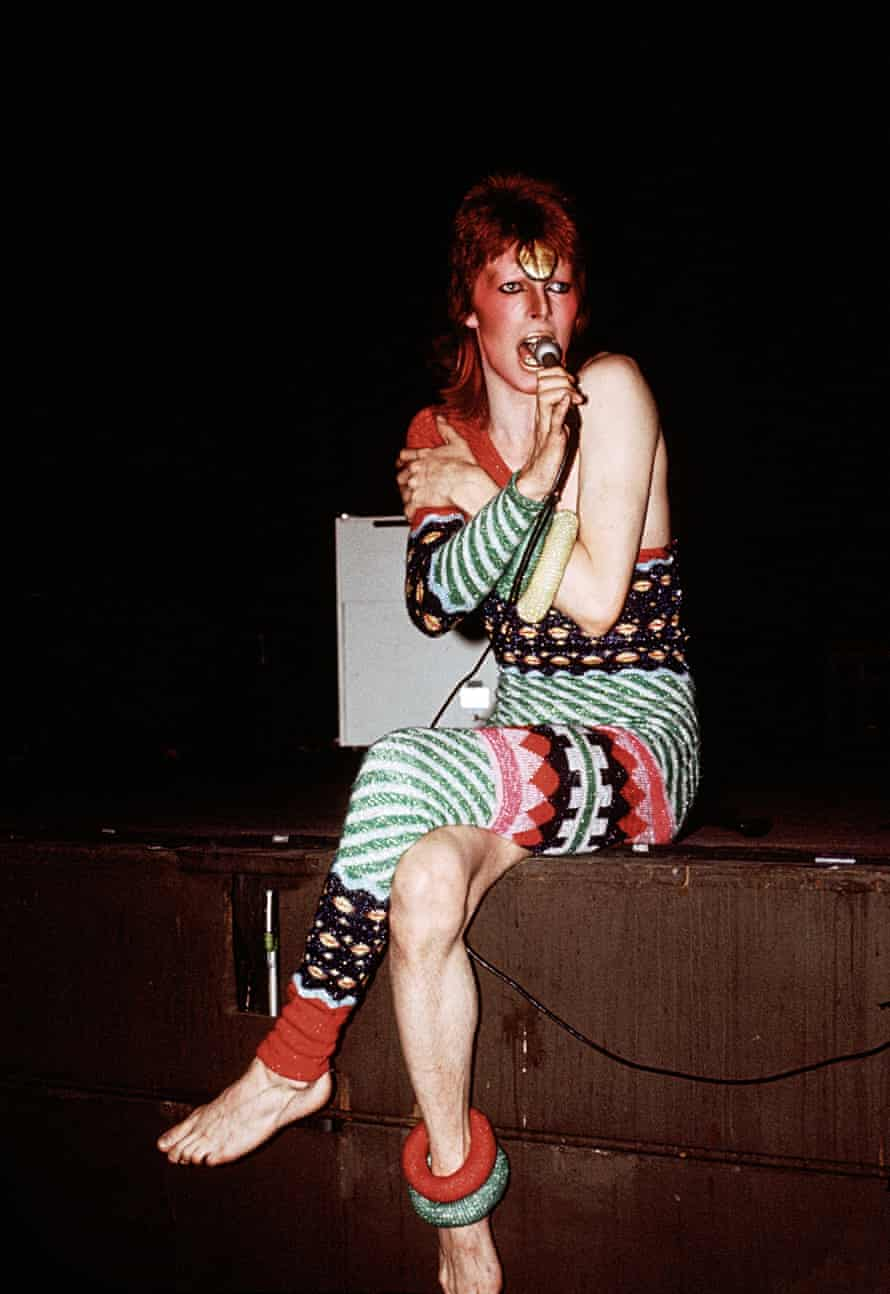 Bowie on tour in 1973, from The Rise of David Bowie 1972-1973.