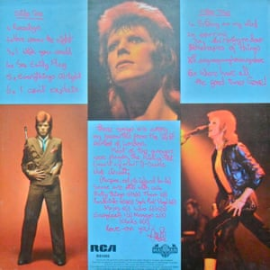 The reverse album sleeve for Pin Ups.