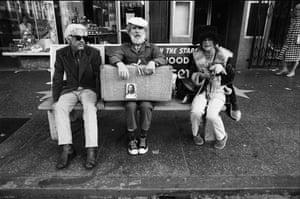 Ave Pildas. Hollywood Blvd. Bus Bench Jesus.