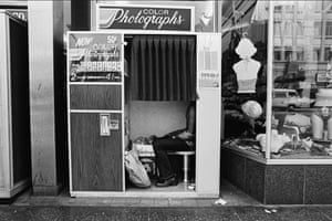 Ave Pildas. Hollywood Blvd. Photomat, Shirtless, 1974.