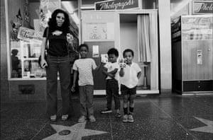 Ave Pildas. Hollywood Blvd. Photomat, Mom, 3 Boys 1 angry, 1974.