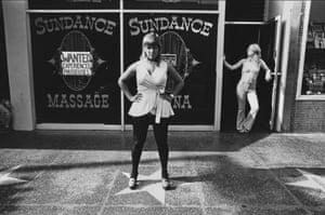 Ave Pildas. Hollywood Blvd. On Stars, Sundance Massage, 1974.