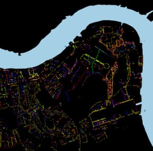 The map shows the location of street trees on public land managed by Southwark council.