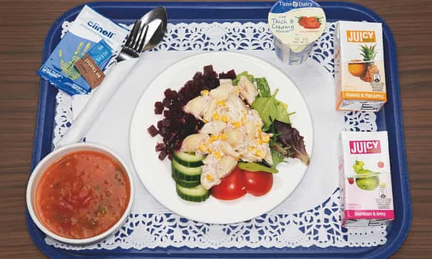 Vegetable soup, tuna salad.
