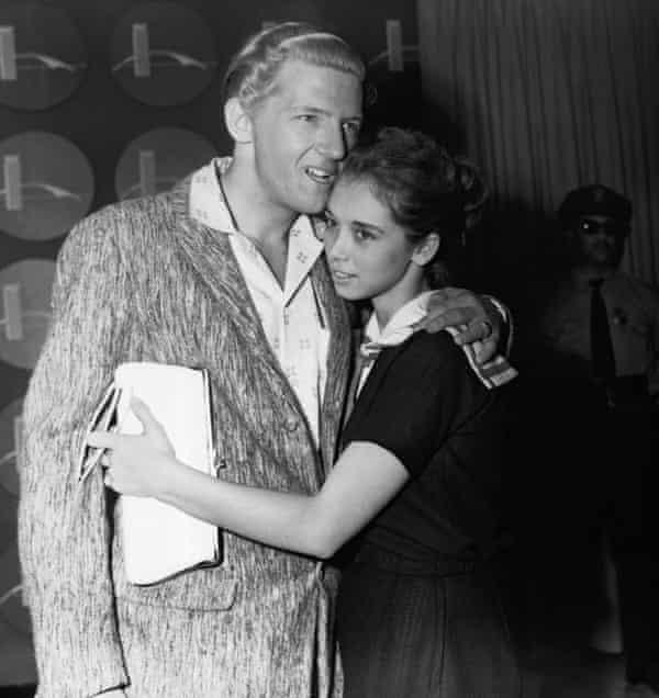 Jerry Lee Lewis met vrouw Myra in 1958